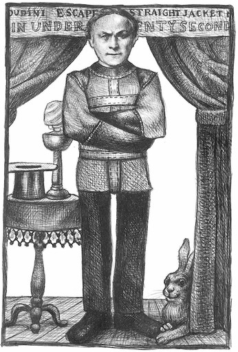 A illustrations from The Houdini Box (the book), by Brian Selznick…